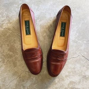 Cole Haan Brown Leather Penny Loafers 7.5AA